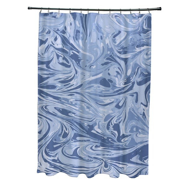 71 X 74 Inch Melange Geometric Print Shower Curtain
