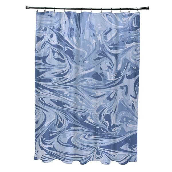 71 x 74-inch Melange Geometric Print Shower Curtain