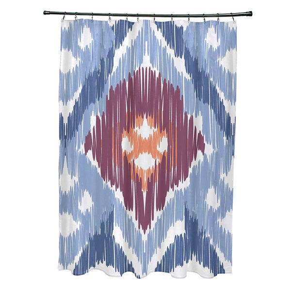 71 x 74-inch Original Geometric Print Shower Curtain