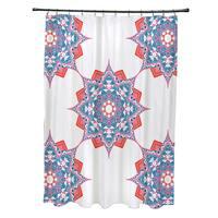 71 x 74-inch Rhapsody Geometric Print Shower Curtain