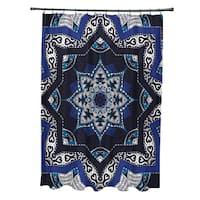 71 x 74-inch Shawl Geometric Print Shower Curtain