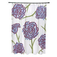 71 x 74-inch Spring Floral 1 Floral Print Shower Curtain