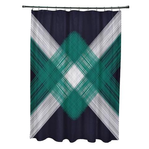 71 x 74-inch String Art Geometric Print Shower Curtain