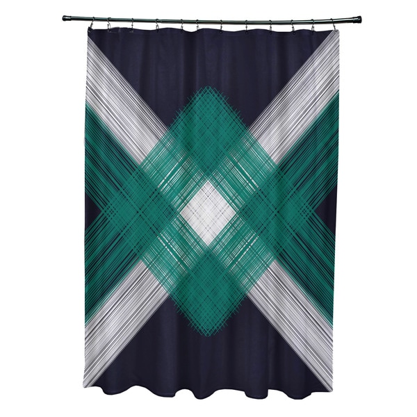 71 x 74-inch String Art Geometric Print Shower Curtain