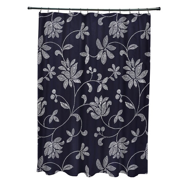 71 x 74-inch Traditionalal Floral Floral Print Shower Curtain