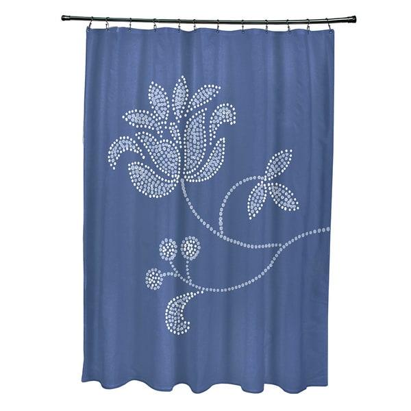 71 X 74 Inch Traditionalal Flower Single Bloom Fl Print Shower Curtain