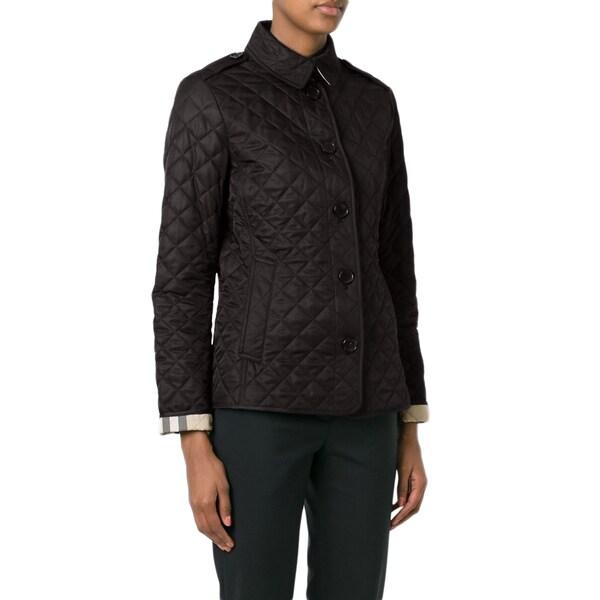 Shop Burberry Ashurst Black Quilted Lightweight Jacket
