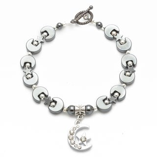Healing Stones for You Sparkle Moon and Star Celestial Bracelet