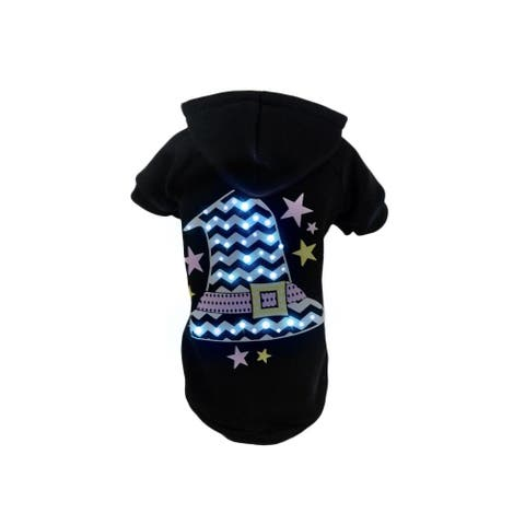 Pet Life LED Lighting Magical Hat Hooded Sweater Pet Costume