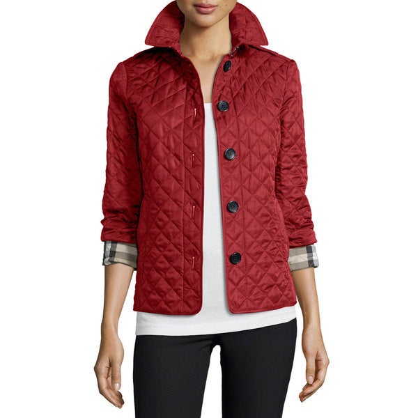Shop Burberry Women S Ashurst Parade Red Polyester Quilted