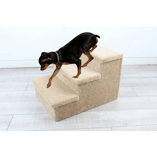 Penn Plax Beige 14-inch Wide x 18-inch Deep x 12.2-inch High 3-step Carpeted Pet Stairs