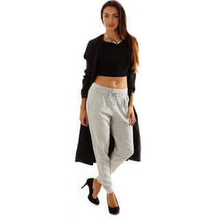 Dinamit Women's Solid-colored Cotton Drawstring Sweat Pants|https://ak1.ostkcdn.com/images/products/11916547/P18807878.jpg?impolicy=medium