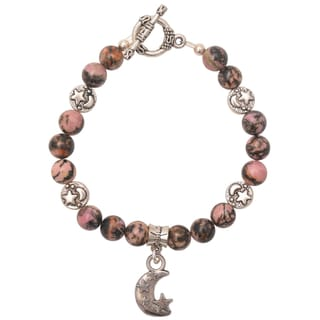 Healing Stones for You Rhodonite Celestial Bracelet