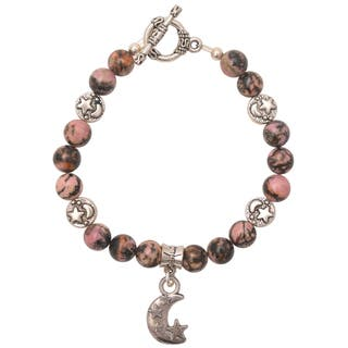 Healing Stones for You Rhodonite Celestial Bracelet|https://ak1.ostkcdn.com/images/products/11916552/P18807883.jpg?impolicy=medium