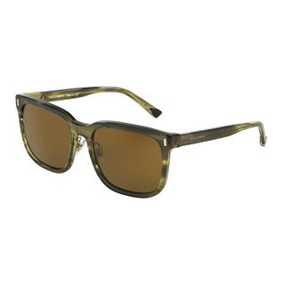 D&G Men's DG4271 292673 Green Plastic Square Sunglasses
