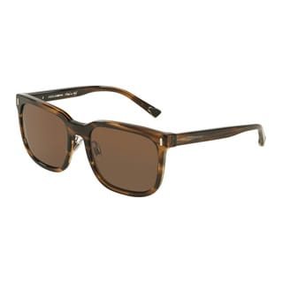 D&G Men's DG4271 292573 Brown Plastic Square Sunglasses