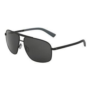 D&G Men's DG2154 126087 Black Metal Square Sunglasses