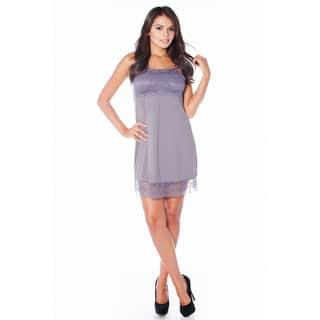 Rhonda Shear Women's Sweet Tart Butterknit Lace Shelf Tank Gown|https://ak1.ostkcdn.com/images/products/11916609/P18807916.jpg?impolicy=medium
