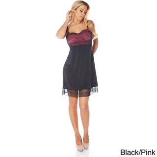 Rhonda Shear Women's Sweet Tart Butterknit Lace Shelf Tank Gown