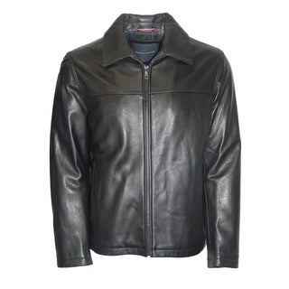 Tommy Hilfiger Men's Black Cowhide Leather Fully Lined Jacket
