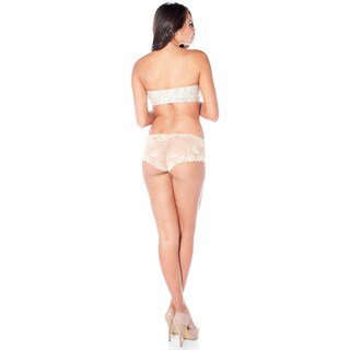 Rhonda Shear Women's Cheeky Solid-colored Lace Panty