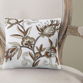 Echelon Home Simone Embroidered Decorative Pillow