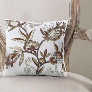 Echelon Home Simone Embroidered Decorative Pillow