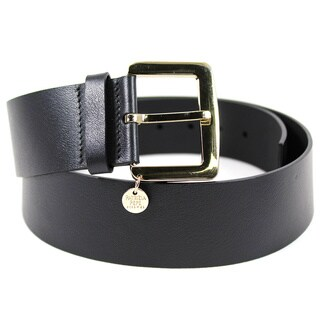 Patrizia Pepe Women's Black Leather 36-inch Belt
