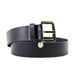 Patrizia Pepe Women's Black Leather 35-inch Belt