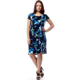 La Cera Women's Short-sleeve Printed Dress