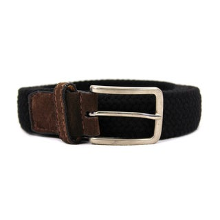 Zerbini Women's Black Canvas 48-inch Belt
