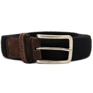 Zerbini Women's Black Textile 46-inch Belt