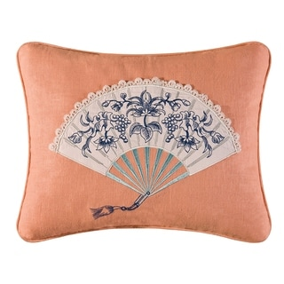 Hampstead Toile Embroidered 14x18 Throw Pillow