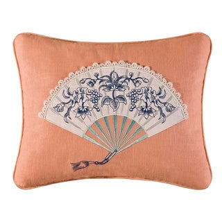 Hampstead Toile Embroidered 14x18 Throw Decorative Accent Throw Pillow
