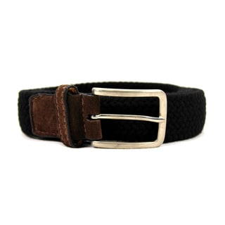 Zerbini Women's Black Textile 48-inch Belt