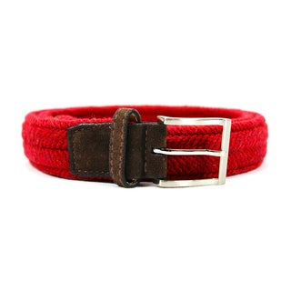 Zerbini Women's Red Canvas 52-inch Belt