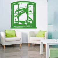 Style & Apply Hawaii View Green Vinyl Wall Decal