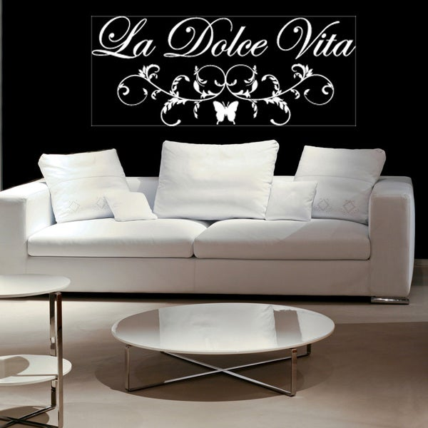 La Dolce Vita Vinyl Art Wall Decal Free Shipping On