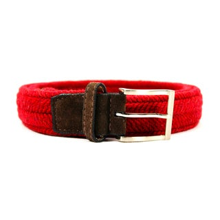 Zerbini Women's Red Textile 43-inch Belt