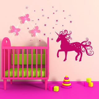 Style & Apply Magical Unicorn Vinyl Wall Decal