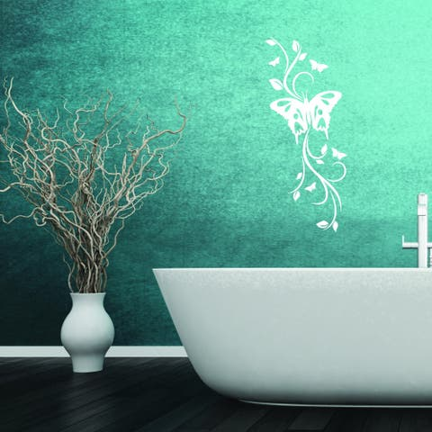 Style and Apply Moth Branch Multi-color Vinyl Wall Decal