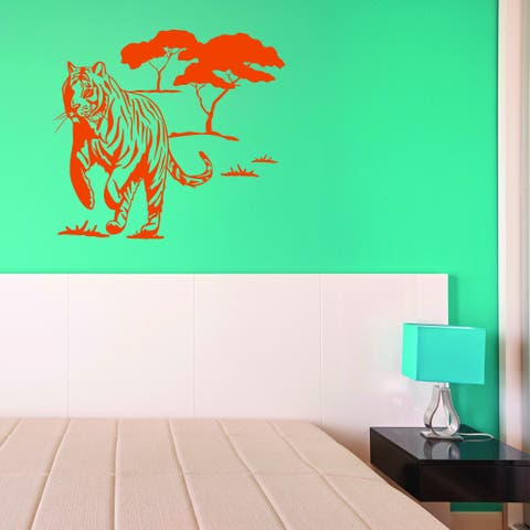 Style & Apply Wild Tiger Multi-color Vinyl Wall Decal