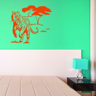 Link to Style & Apply Wild Tiger Multi-color Vinyl Wall Decal Similar Items in Vinyl Wall Art