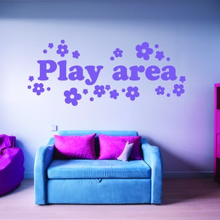 Style & Apply Play Area Multi-color Vinyl Wall Decal