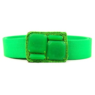 Maliparmi Women's Green Textile Belt
