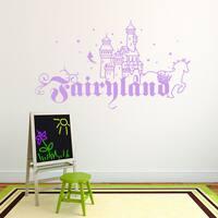 Fairyland Vinyl Art Sticker Wall Decal