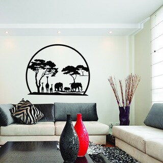 African Panorama Vinyl Art Wall Decal