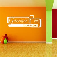 Gourmet Lounge Vinyl Art Wall Decal