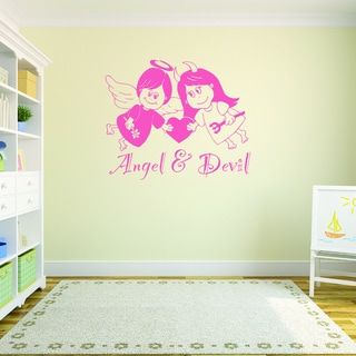 Angel and Devil Vinyl Art Wall Decal