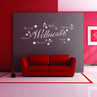 Style & Apply Wellness III Multi-color Vinyl Wall Decal